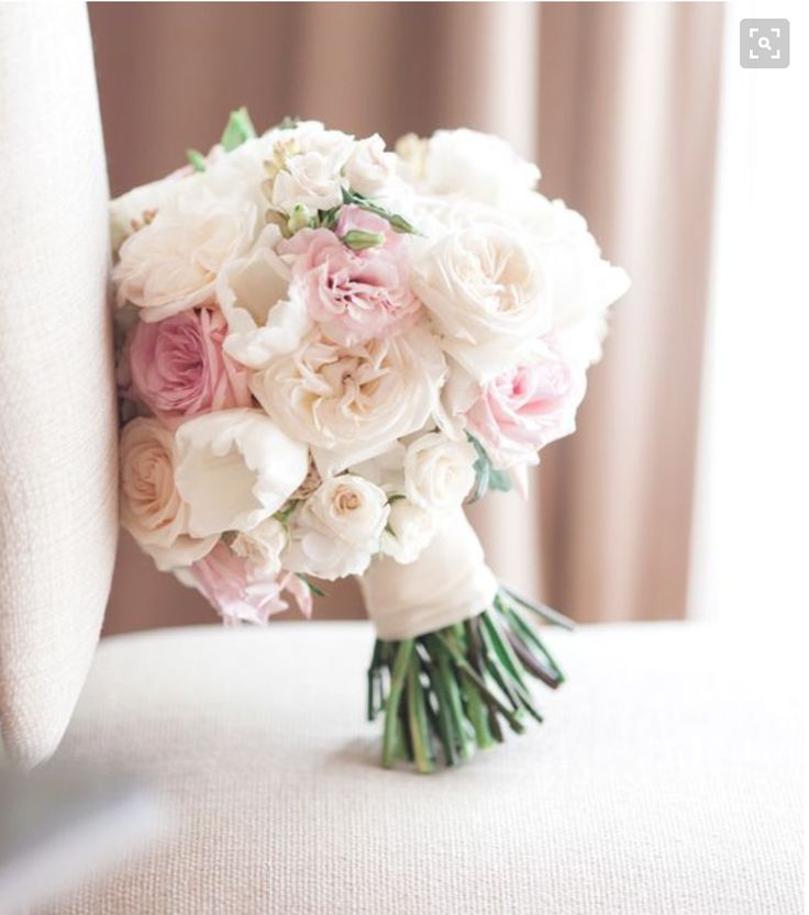 pastel pink flowers for hand bouquet