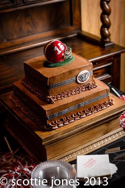 My husbands Alabama Football groomsmen cake
