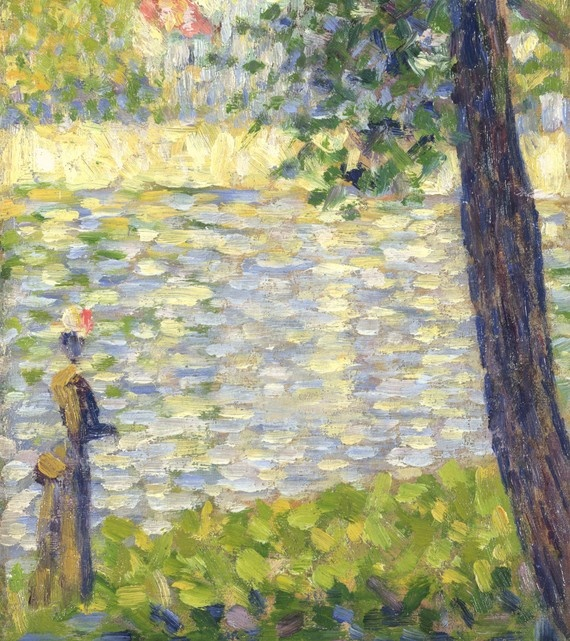 Detail from: The Morning Walk (1885)  Georges Seurat