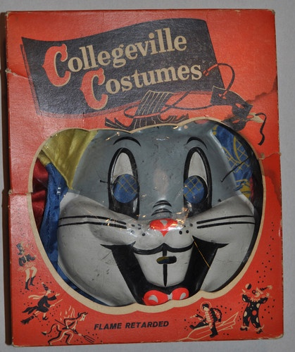 IN BOX Vintage Collegeville Halloween Costume Bugs Bunny, size 3-5 yrs, 1950's | eBay