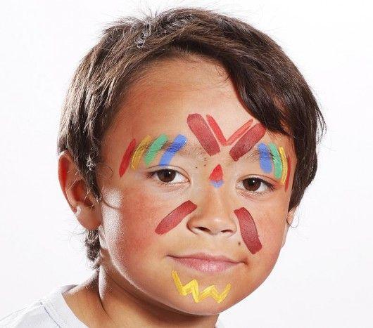 Pour le Carnaval, maquillez votre enfant en petit indien : http://www.boutique-jourdefete.com/blog/tutoriels-maquillage-enfants-halloween-carnaval/tutoriel-maquillage-indien/