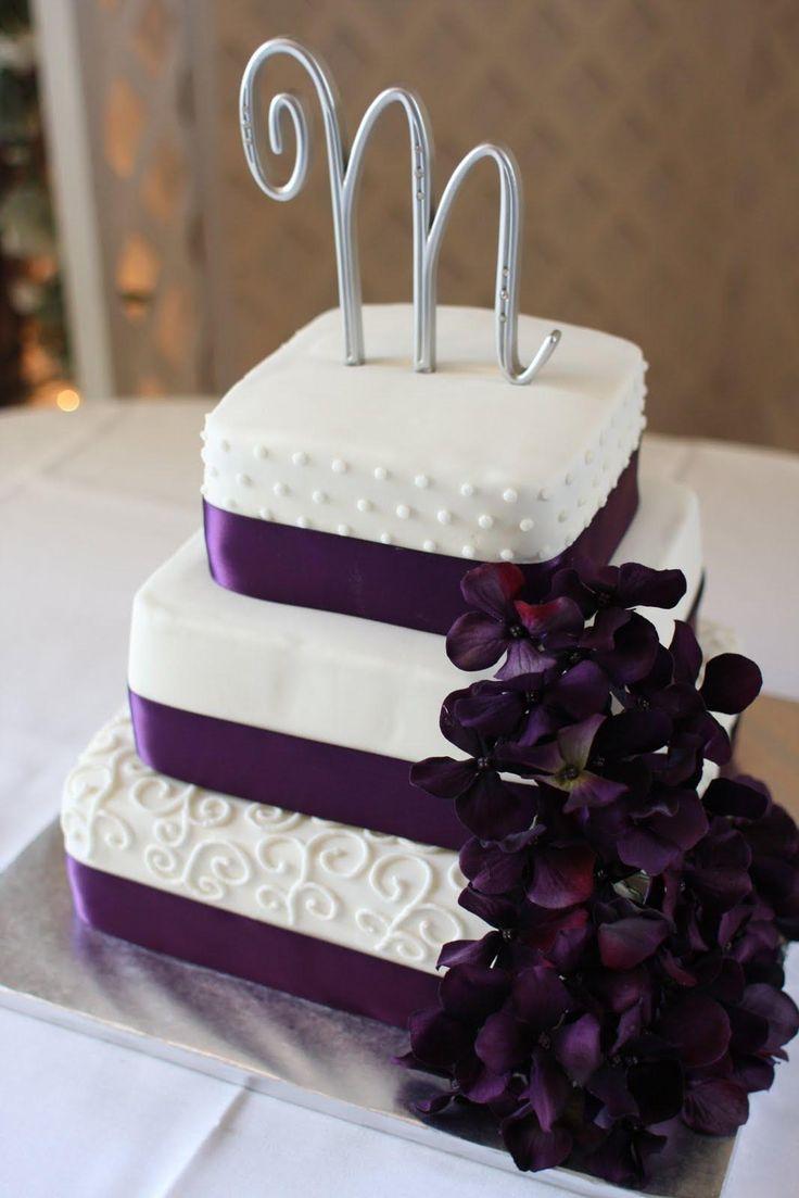 Purple Wedding Cake Ideas Pictures 2