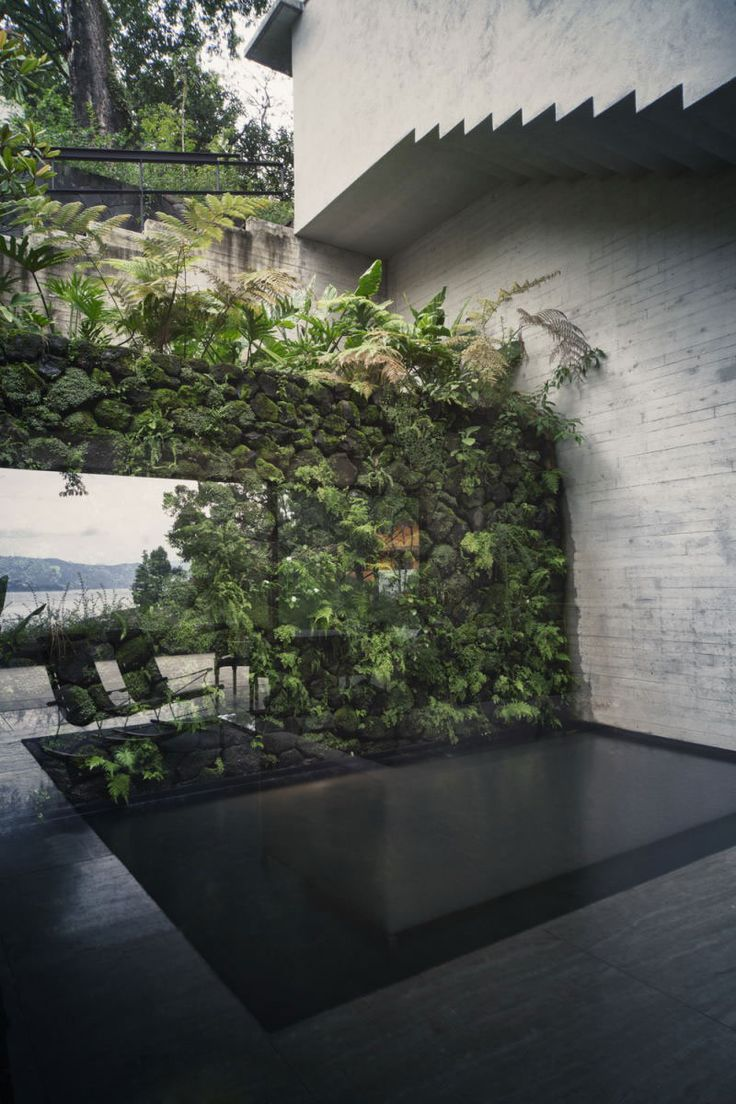 Livewall green wall system make conferences more comfortable - Mz House Was Constructed By Chk Arquitectura And Is Located In Valle De Bravo Lake In Mexico The Home Which Is Perched On A Mountain And Surrounded By Th