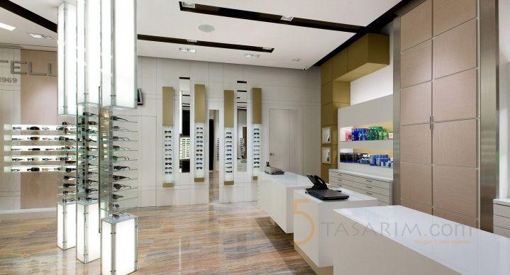 gözlük mağazası raf sistemleri