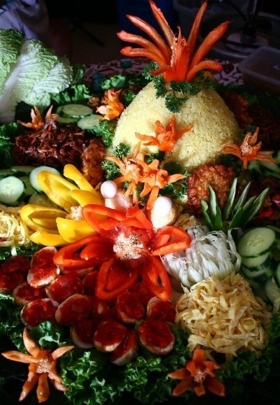 Indonesian Fragrant Yellow Celebration Rice (Nasi Kuning)