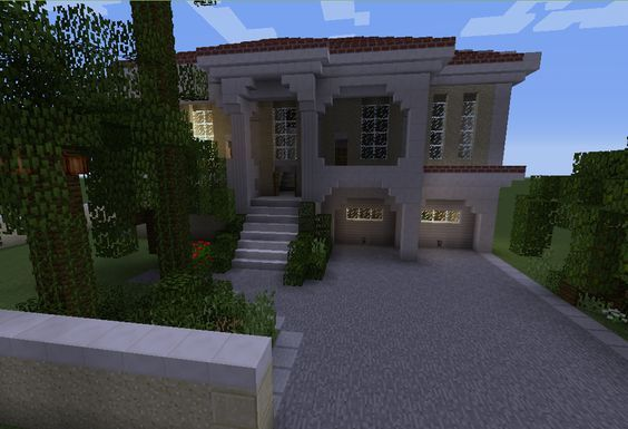 White Mansion 2 - GrabCraft - Your number one source for MineCraft buildings, blueprints, tips, ideas, floorplans!