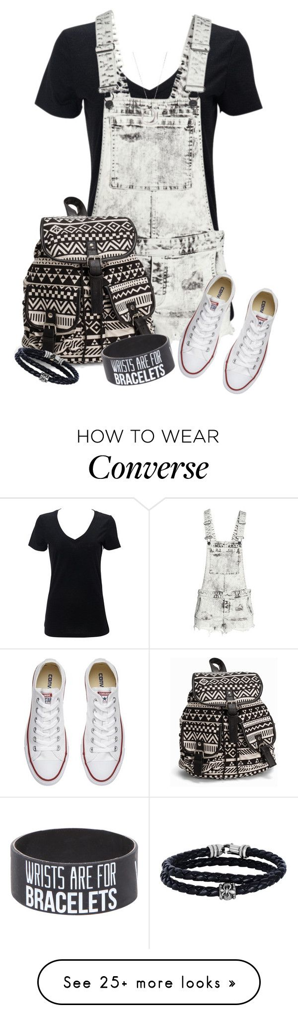 """Back to School #5"" by maxine128 on Polyvore featuring H&M, Converse, NLY Accessories, Tiffany & Co. and Phillip Gavriel"