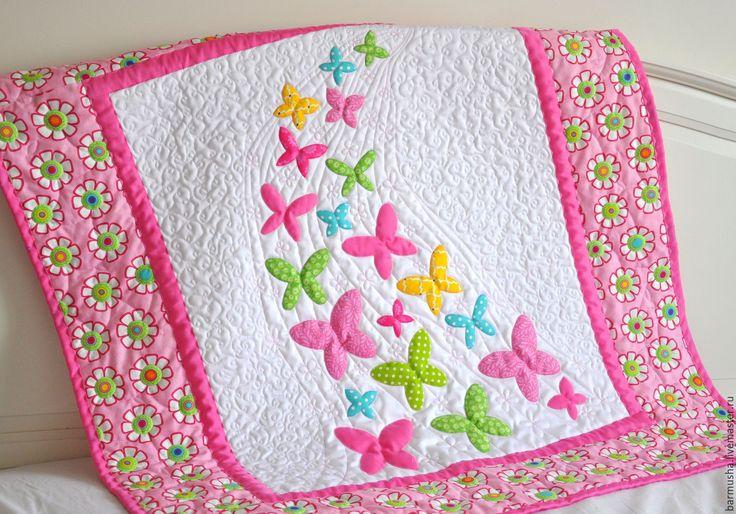 """Купить Детское одеяло (покрывало) """"Теплый денек, легкий ветерок"""" - лоскутное одеяло, лоскутное покрывало"""