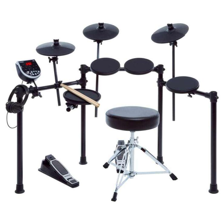 Alesis Drum Set For Beginners Electronic For Kids Adult Black 8 Piece Profession #Alesis