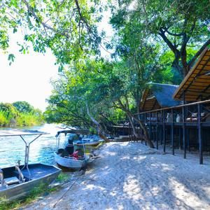 Experience the tranquility of the African bush underneath a riverine canopy on the banks of the Chobe River at Ichingo Chobe River Lodge.  #youcouldbestartingyourweekhere #holidaygoals #safariparadise #safarilodge #safari #chobe #choberiver #travel #travelafrica #tentedsafari #ichingochoberiverlodge #zambeziqueencollection