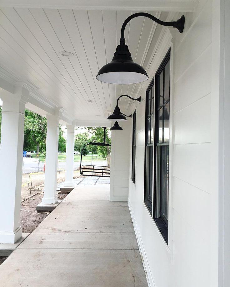 Carson gooseneck. Gooseneck wall sconce. Black outdoor light. Outdoor sconce. Wall sconce. Lightweight aluminum fixture. Indoor outdoor lighting.