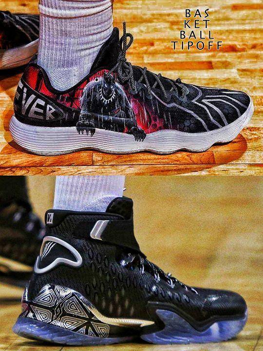 c8315836758 Klay Thompson s ANTA KT3s (bottom) or Clint Capela s custom Nike React  Hyperdun…