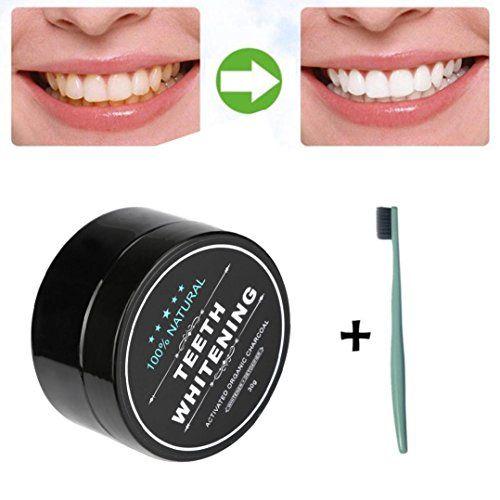 Tefamore Pâte à blanchir les dents Crème dentaire au bambou activée à base de bio organique naturel: Contenant de l'ingrédient de…
