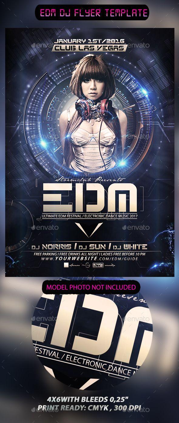 EDM DJ Flyer Template PSD #design Download: http://graphicriver.net/item/edm-dj-flyer-template/13453336?ref=ksioks