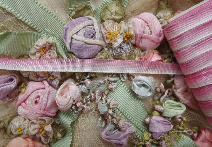 Ombre Ribbon roses from the early 1900's probably around the 20's or 30's