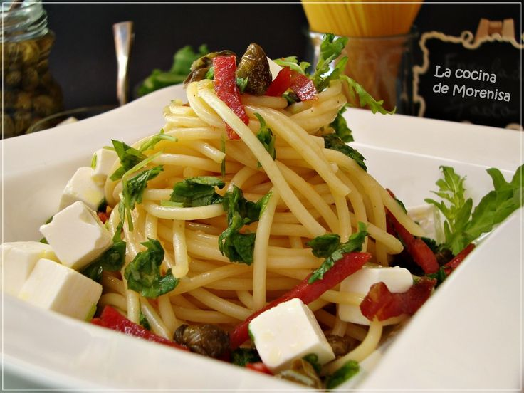 LA COCINA DE MORENISA: Ensalada de Espaguetis con Jamón y Rúcula