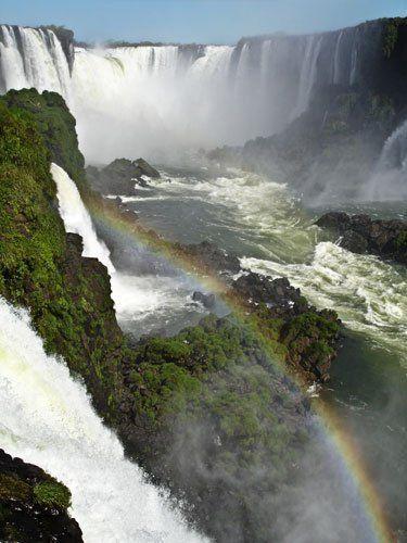 Az Iguazú vízesés, Dél-Amerika