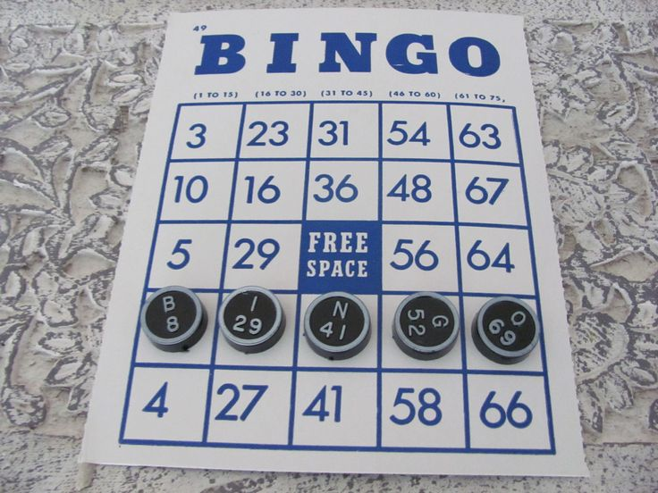 Vintage Toy 1960s Whitman Bingo Game.  . I enjoyed playing Bingo when I was a child.