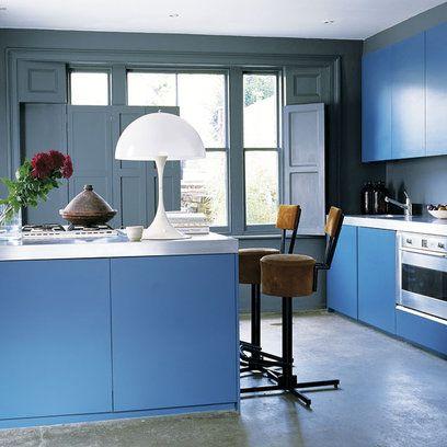 Kitchen bold colours blue color am i blue for Kitchen ideas and colours
