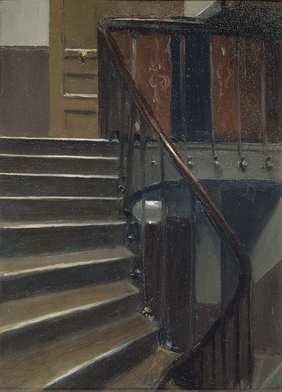 Stairway at 48 rue de Lille Paris    Artist: Edward Hopper    Completion Date: 1906