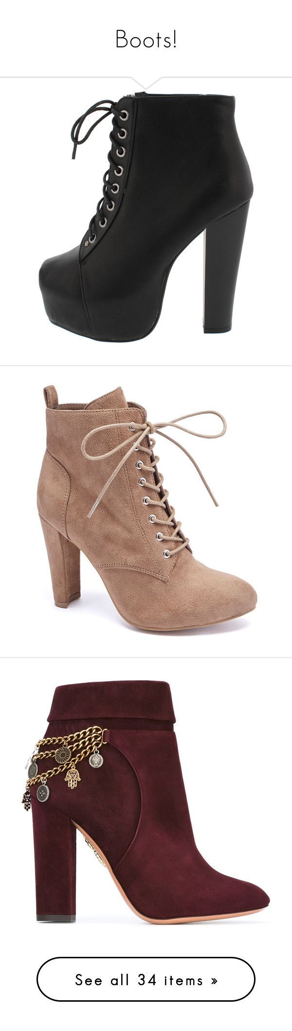 """""""Boots!"""" by purpelleunicorn ❤ liked on Polyvore featuring shoes, boots, ankle booties, heels, black wedge booties, black ankle boots, black wedge ankle booties, black booties, wedge ankle boots and ankle boots"""