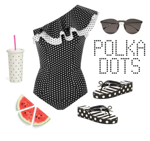 """So Dotty"" by kryssicha on Polyvore featuring Lisa Marie Fernandez, Illesteva and Kate Spade"