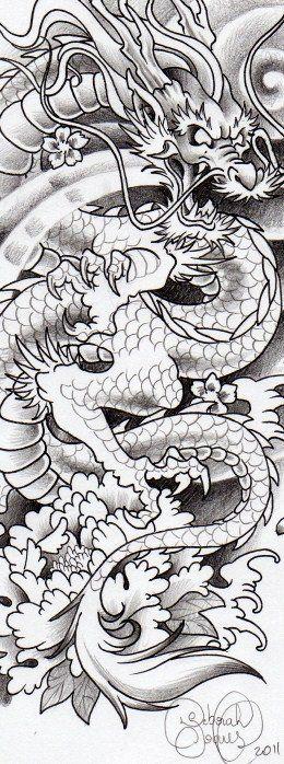 Dragão para tattoo do Daniel.Deborah Soares. Mais em: facebook.com/dehtattoo