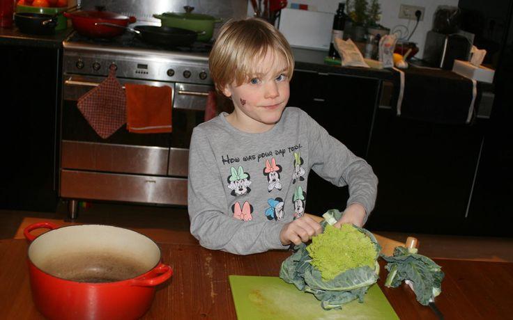 Risotto met romanesco gemaakt door Jobke - Kids in the Kitchen