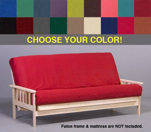 Premium Quality Futon Mattress Cover. Fits standard thickness futon mattresses (6 to 8 in.). IMPORTANT NOTICE ABOUT COLORS: We attempt to use the most accurate swatch images possible however it should be noted that there are many factors which can affect how colors are displayed on your computer screen. | eBay!