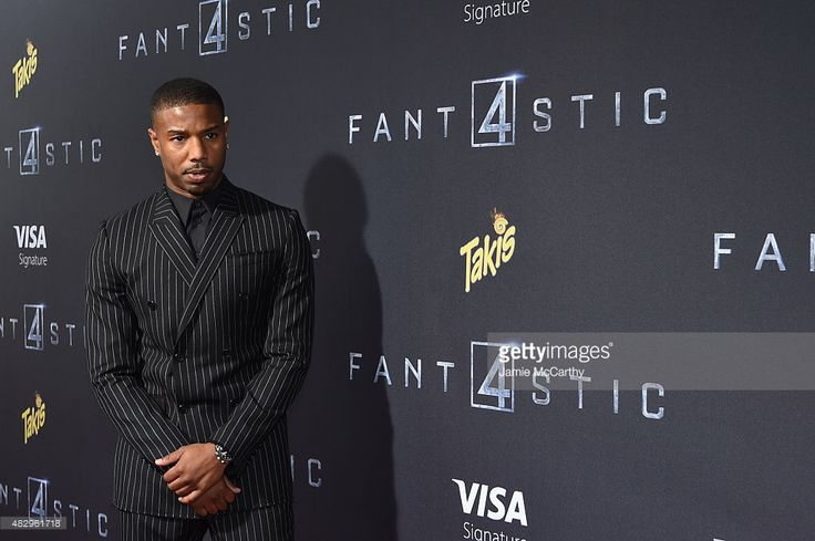 Actor Michael B. Jordan attends the New York premiere of 'Fantastic Four' at Williamsburg Cinemas on August 4, 2015 in New York City.