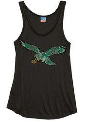 Philadelphia Eagles Womens Black Logo Tank Top