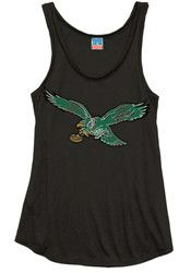 Philadelphia Eagles Womens Black Logo Tank Top