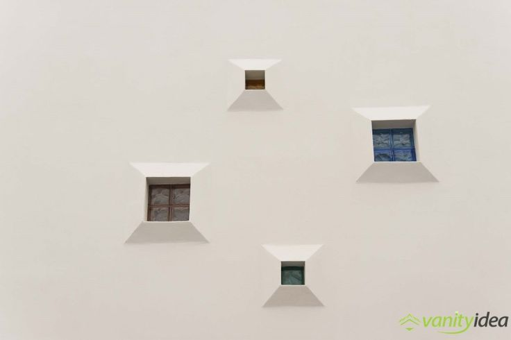 small and large  cubic-shaped windows