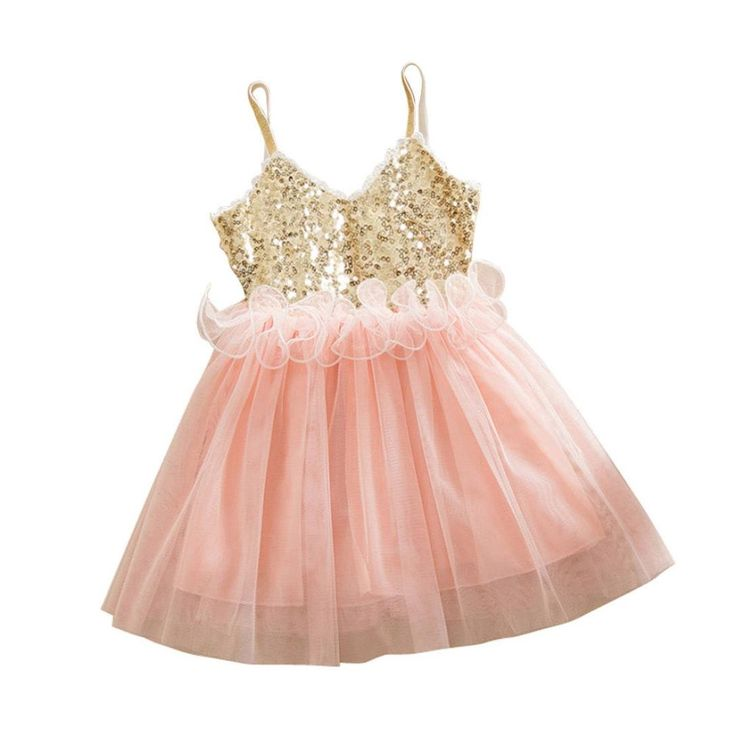 Baby Dress, Tenworld Sequins Tutu Princess Dresses For Toddlers Girls (100, Pink)