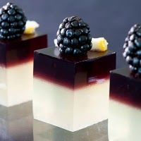 There is such a chic, artistic elegance to these Blackberry Jell-O Shots.