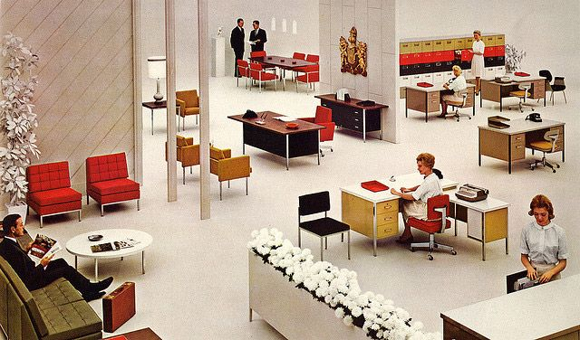 1960′s office interior – Steelcase Coordinated Offices. @CTSart #design