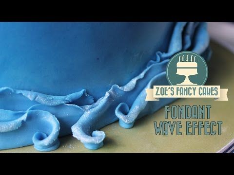 How to make a fondant wave effect on a cake How To Tutorial - YouTube