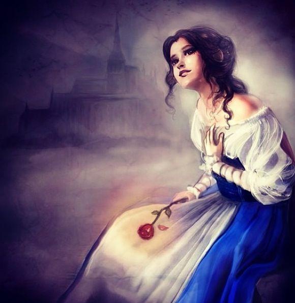 Love Each Other When Two Souls: Elf-in-mirror Princesas Disney