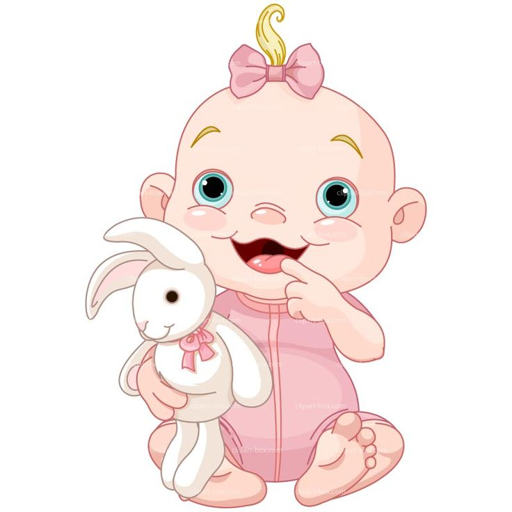 Girl Toys Clip Art : Clipart baby girl with rabbit royalty free vector design