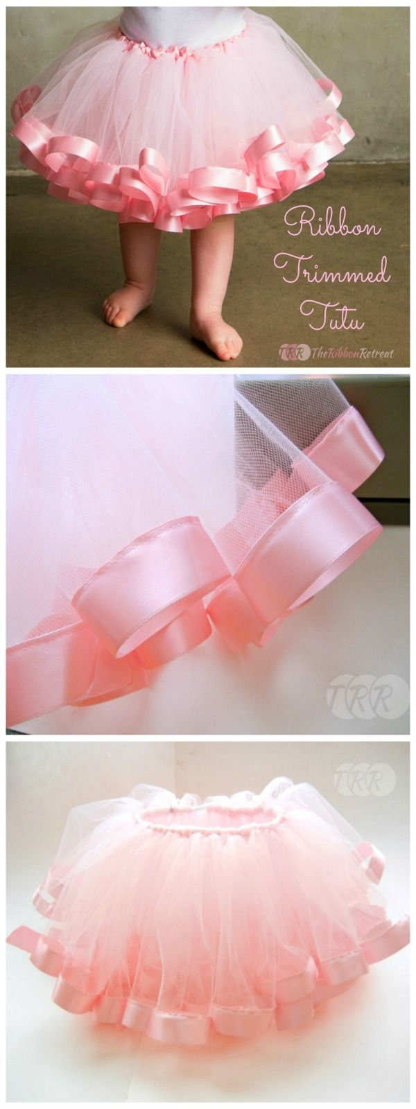 Goodness, is this cute! Ribbon Trimmed Tutu Tutorial - The Ribbon Retreat Blog
