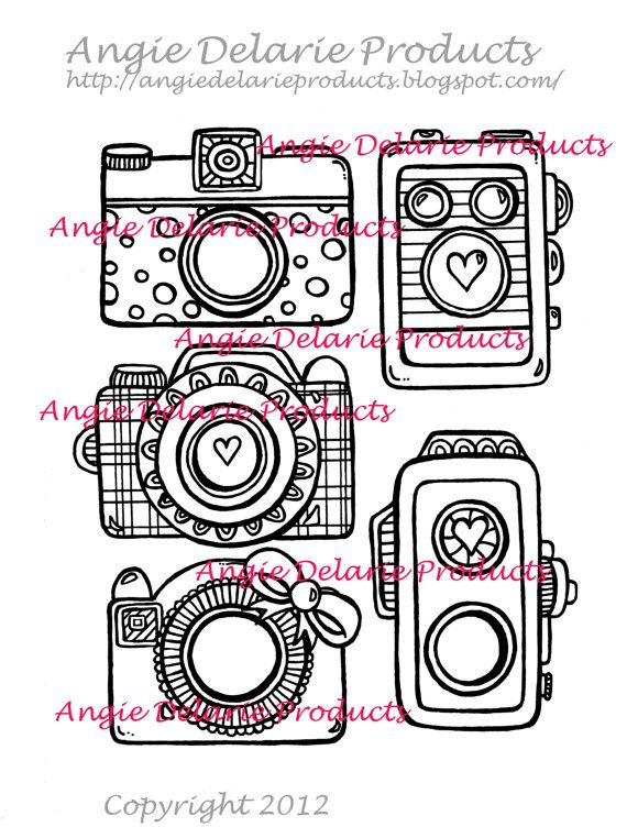 Old Vintage Cameras  Digital Stamp by angiedelarie on Etsy