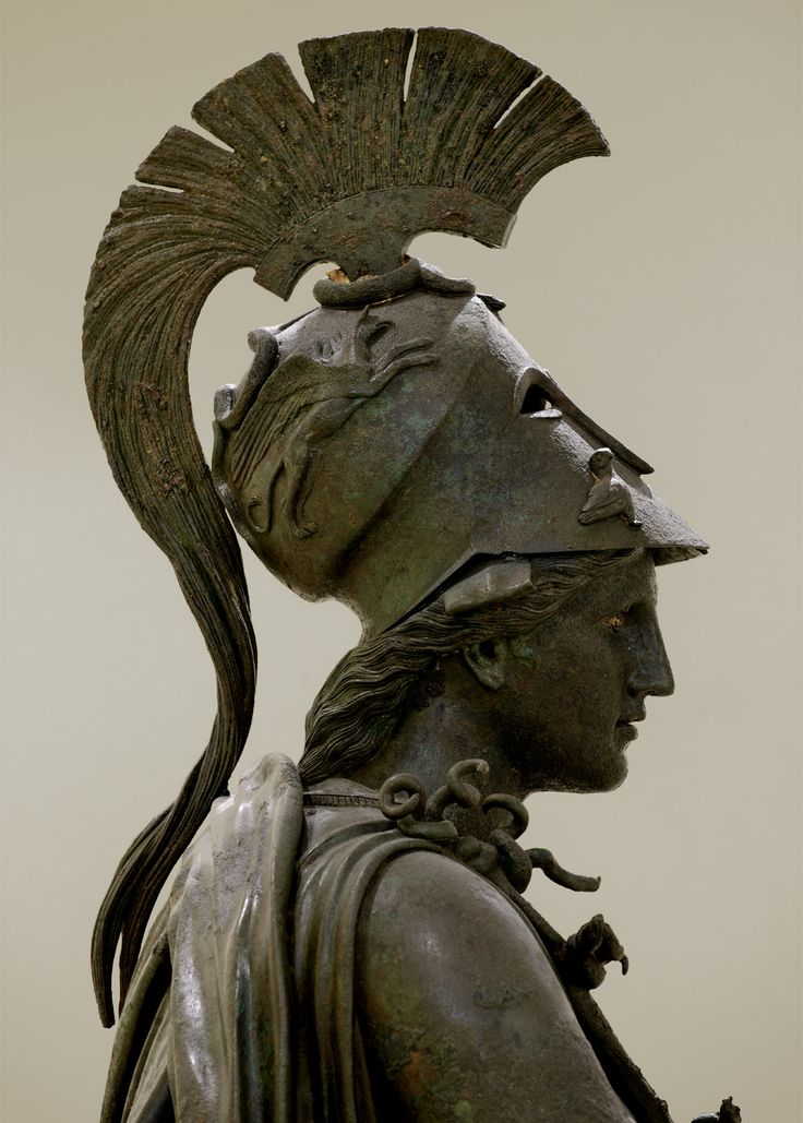 Piraeus Athena, bronze statue dated to the fourth century BCE.   Currenty at Archaeological Museum of Piraeus.