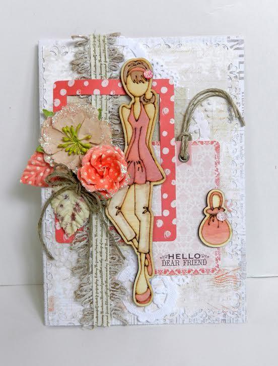 Wood doll erin card