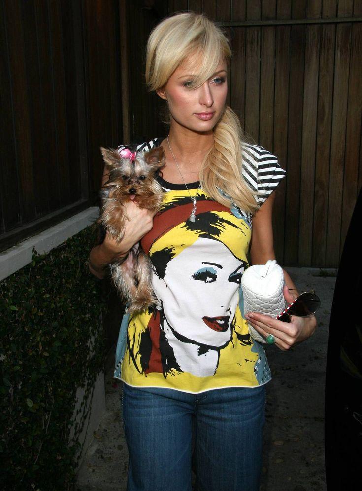 HERMEGÅS!: Britney legger seg på trenden som Paris var først ute med. Her med sin egen lille terrier. Grrr.....