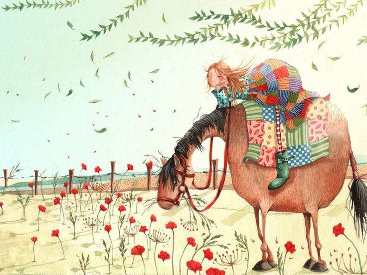 Открытки для детей лошадки
