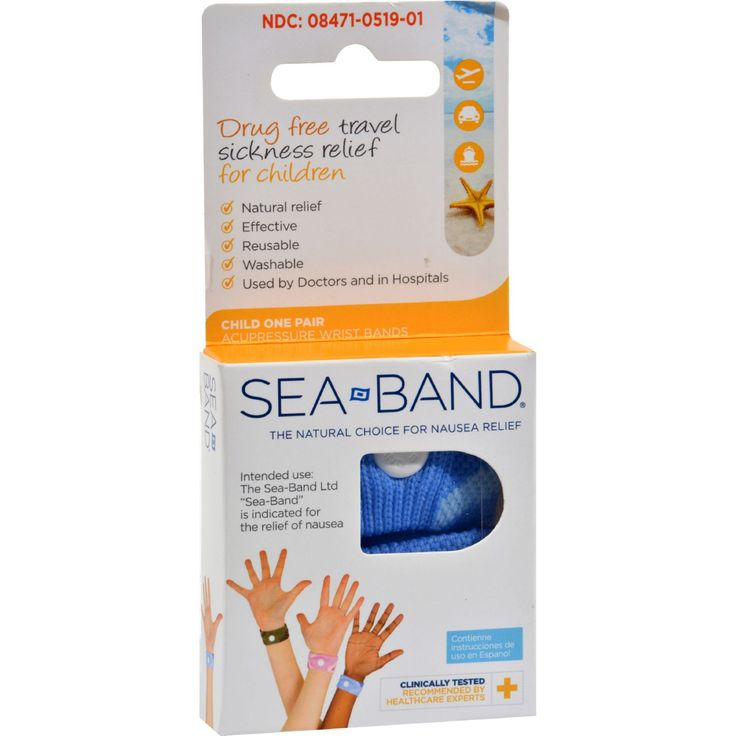 Sea-Band Child Travel Sickness Wristband - The Natural Choice for Nausea ReliefDrug Free Travel Sickness Relief for ChildrenNatural ReliefNo Side EffectsEffectiveReusableWashableUsed by Doctors and in Hospitals The Natural Choice - Drug Free Travel Sickness Relief for Children MAKING JOURNEYS FUNWe understand that the excitement of travel can sometimes be spoiled for children when nausea strikes. For effective relief of all forms of travel and motion sickness. Sea-Band provides a natural…