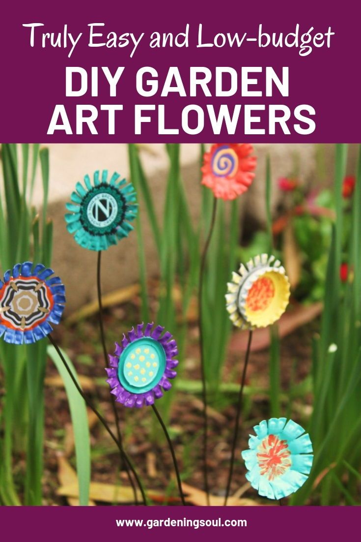 Truly Easy And Low Budget Diy Garden Art Flowers Flower Art Diy