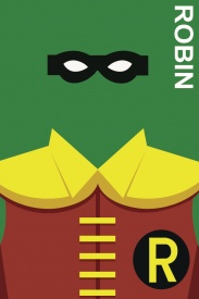 Robin Bust Comic Book Poster