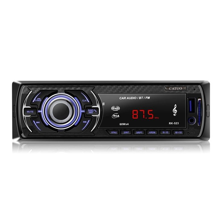 LESHP Car Stereo with Bluetooth,In-Dash Single Din Car Radio, Car MP3 Radio Player USB/SD/AUX/Remote Control Included