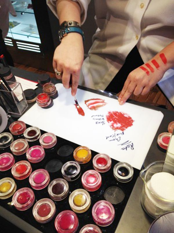 Bite Beauty lip lab in New York: create your own custom shade. Oh god! This is a thing? I want to go!